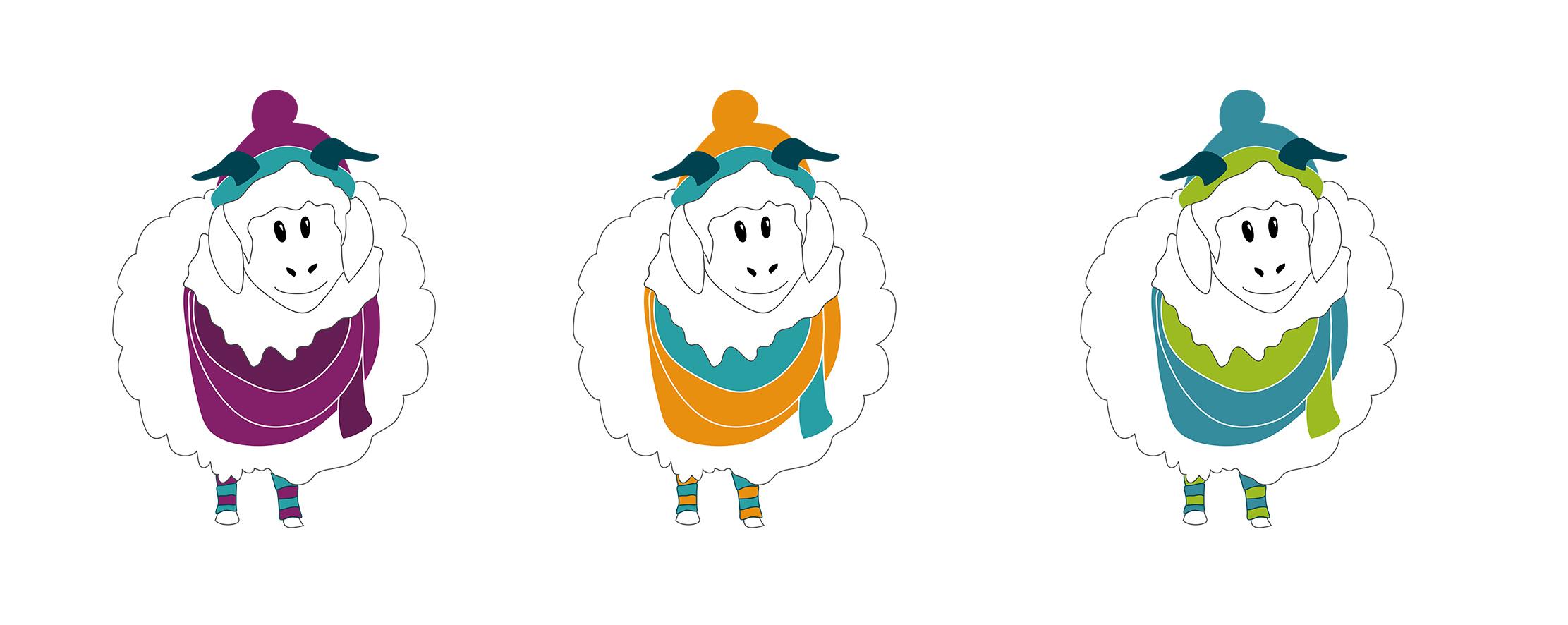 Chèvres mohairs couleurs